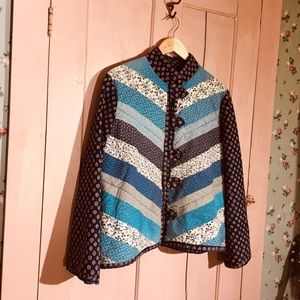 ⚡️SOLD⚡️ handmade 70s quilted jacket